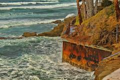Backyard Fence Rusting (David K. Edwards) Tags: beach wall fence rust waves friday seashore
