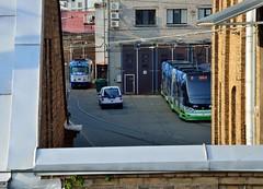2015 09 24 212 Riga (Mark Baker.) Tags: city autumn urban public photo europe european baker outdoor mark union transport eu tram baltic latvia september photograph depot states riga rīga 2015 picsmark