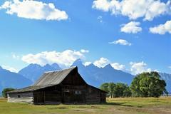 Barn (Patricia Henschen) Tags: mountains clouds barn wyoming tetons grandtetonnationalpark mormonrow