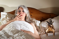 Indiscretion (Apionid) Tags: selfportrait bed nikon smoking armadillo texan maturelady werehere crazyisgood d7000 day75366 hereios 366the2016edition 3662016 15mar16