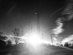 Sunset (IamJomo) Tags: sunset blackandwhite bw apple monochrome washingtondc iphone jomo takenwithaniphone iphoneography iphone6 snapseed smallworldphotos jomophoto