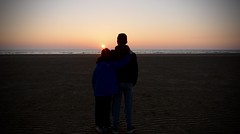 ERR_2984 (ParkyPie) Tags: sunset sea love beach boys beautiful seaside sand hug quiet brothers patterns warmth lancashire summit huge moment blackpool sanddunes sons