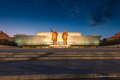 Mansudae Grand Monument (reubenteo) Tags: city democracy scenery war communist communism kimjongil socialist metropolis socialism northkorea pyongyang dprk reunification kimilsung kimjongun