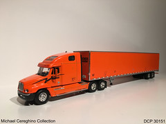 Diecast replica of Schneider National Freightliner Century Class, DCP 30151 (Michael Cereghino (Avsfan118)) Tags: scale century truck toy model die class semi replica national cast 164 promotions schneider diecast dcp freightliner carriers sni 30151
