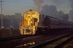 Early Morning Alco: 2 (craigsanders429) Tags: sunrise passengertrains passengercars rs18 sunrisephotography alcolocomotives ohiocentralrailroad dennisonohio ohiocentralsystem ohiocentral1800