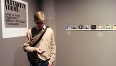 Instantly Yours & Off the Fridge closing party, 2/26: We'd like to think that Jim Baab was checking his phone for the latest Instagram images! (PRCBoston) Tags: boston polaroid photography prc bostonsnow bostonuniversity instantphotography cryptid leftofcenter photographicresourcecenter exhibitionclosing bostonphotography impossibleproject bostoncold instagram offthefridge instantlyyoursaoneofakindexhibitionofinstantinstagramphotography instantlyyoursprc
