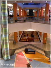Shopping center (voar alto one) Tags: people plant colour glass bench carpet design indoors paving colums