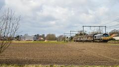Railtraxx 266 118-9   Beveren (Tren di Cédrico) Tags: train private logo sticker gm belgium diesel belgië cargo 66 class zwart 77 antwerpen trein c66 privé class66 beveren 266 1189 waasland privaat l59 railtraxx
