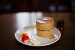 Patisserie France : Tsuyama (Nazra Zahri) Tags: food cake japan shop pancakes dessert 50mm restaurant spring cafe nikon raw hotcakes thick okayama tsuyama 2016 50mmf14d d700