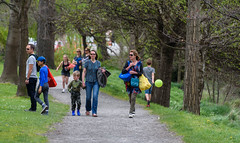 Just About Gail Force Winds (Jocey K) Tags: trees newzealand christchurch people spring balloon pathway hagelypark