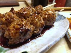 Chicken balls skewers from Motsumasa @ Asakusa (Fuyuhiko) Tags: from chicken tokyo balls  asakusa  skewers       motsumasa