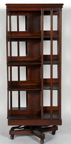 Danner Walnut Revolving Bookcase - $715.00 (Sold October 2, 2015)