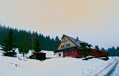 Czech mountain hut (stanislaff) Tags: trees winter snow mountains evening czech samsung wideangle linux hory wavelet orlick rawtherapee nx30 samsungnx1224mmf456 nx1224