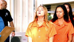 h50503_01753 (UJB88) Tags: county orange women uniform prison jail facility jumpsuit correctional restrained