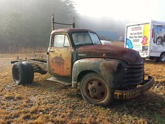 Roadside stop (Dave* Seven One) Tags: rot classic chevrolet truck vintage rust gm rusty pickup chevy rusting gmc rustytruck rotted 3800 advancedesign cheverolettruck