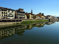 Buildings along the River Arno in Florence (chibeba) Tags: city urban italy reflection tourism river florence spring europe tuscany april riverarno arnoriver 2016 shortbreak citybreak