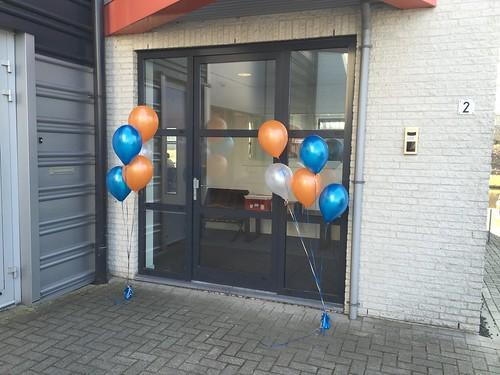 Tafeldecoratie 5ballonnen Gronddecoratie Gameworld Capelle aan den IJssel