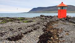 Hvaleyrarviti (holger.torp) Tags: ocean sea lighthouse mountain beach sjr haf hvalfjrur viti hvaleyri hvaleyrarviti