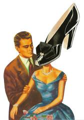 Shoe Fetish (dadadreams (Michelle Lanter)) Tags: surreal collageart shoefetish