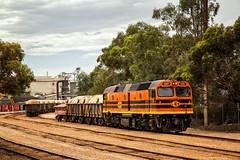 2016-02-22 GWA 2207 shunting ROHFs Nyrstar Lead Smelter Port Pirie (deanoj305) Tags: wagon 22 au australia class wyoming gw southaustralia lead ore smelter 422 gwa 2207 portpirie 42207 gennesee nyrstar rohf