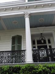 New Orleans - Blue Balcony Ceiling (Drriss & Marrionn) Tags: street windows usa house building architecture buildings outdoor balcony neworleans balconies gardendistrict streetviews neworleansla housestyle castironbalcony neworleanscitytrip
