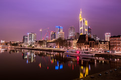 Sleepless City #2 (oliver.nispel) Tags: city bridge sky color water colors skyline night river germany de landscape cityscape colours hessen nightscape nightshot outdoor frankfurt hdr frankfurtammain