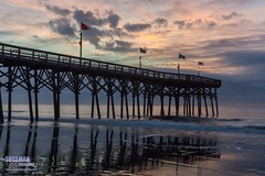 Sunrise at Myrtle Beach Pier (The Suss-Man (Mike)) Tags: longexposure sky reflection beach nature water clouds sunrise myrtlebeach pier unitedstates southcarolina atlanticocean slowshutterspeed georgetowncounty horrycounty thesussman sonyslta77 sussmanimaging