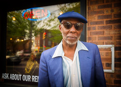 Jazz Man Cliff (Darren LoPrinzi) Tags: city portrait urban music cliff man philadelphia hat sunglasses canon cool candid jazz stranger dude 5d canon5d philly miii musicstore jazzman southphilly eastpassyunk