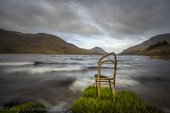 Best seat in the House. (Tony Brierton) Tags: lake solitude alone peace seat cogalway thechair connemara contemplation kylemore woodenchair kitchenchair 7416