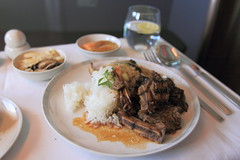 In-flight Meal - Singapore Airlines (A Sutanto) Tags: food plane airplane inflight singapore class business airlines sq sia btc bookthecook
