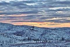 Sunset in the Hills - Exposure Blended (MIKOFOX  Thanks for Visiting!) Tags: winter sunset lake snow forest landscape outdoors march hills yukon spruce hdr exposureblending xt1 fujifilmxt1 xf18135mmf3556rlmoiswr mikofox