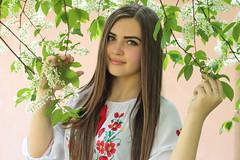 Ukrainian Spring-7 (Pavlo Kuzyk) Tags: flowers tree nature girl canon spring pretty dress blossom ukraine embroidered ivanofrankivsk