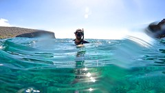 Water Through Lense (minimi007) Tags: sea summer man green water sunshine outdoors hawaii us day diving bluesky maui scubadiving blueskies lanai watersport gopro goprohero kesa snorkeln gopro4 gopro4black