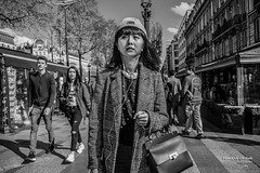 Lost in Paris (Franois Escriva) Tags: street light sky people bw sun white paris france japanese photo los noir candid champs elyses streetphotography olympus tourist nb rue blanc omd