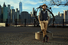Anton Martynov PHOTOGRAPHY (Sneaky Russian) Tags: city nyc newyork male hat fashion tattoo skyscraper beard photography model nikon photographer view photoshoot einstein anton d800 elinchrome martynov