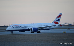 British Airways Boeing 787-8 Dreamliner (gdd814) Tags: britishairways oneworld 787 7878 b788 boeing spotting calgary airport nikon d3300 55200mm gzbje
