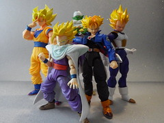 Dragon Ball Z Collection so far... (Matheus RFM) Tags: trunks piccolo dragonballz bandai goku vegeta gohan dbz shfiguarts