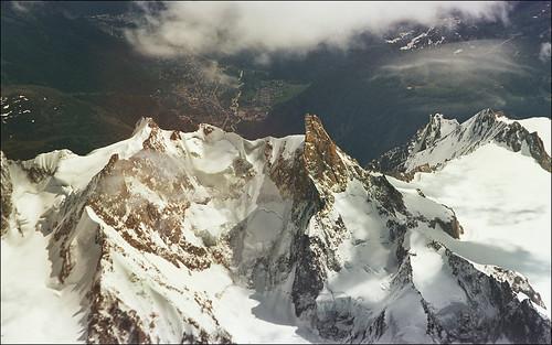Magnificent aerial view of Alps DESKTOP