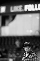 Where is Everyone? (watermarkimagingco) Tags: white black color sports night fun nc team durham baseball action group bulls 300mm d750 players braves f40 180mm 28d