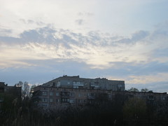 IMG_4059 (Souls_Eater) Tags: trees windows sky building speed cherry evening spring walk ukraine wires apricot everydaylife donetsk