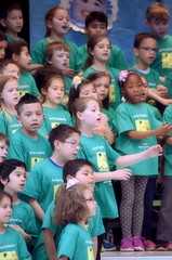 2016-04-07 (45) Fred D ES 2nd grade show (How Does Your Garden Grow) afternoon (JLeeFleenor) Tags: kids youth photography virginia kid photos performance victoria indoors va elementaryschool inside leesburg 2ndgrade frederickdouglass loudouncounty youthactivities
