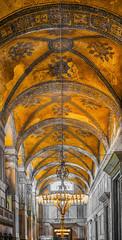 haghia sophia; istanbul_turkey (eks-i zb) Tags: yellow museum architecture turkey istanbul mosque decke architektur gebude sophia haghia moschee