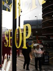 Shop (Victor W Adams) Tags: street city uk light people urban colour reflection art window shop newcastle lumix artistic streetphotography panasonic business g5 reflect barber streetscape shopfront newcastleupontyne