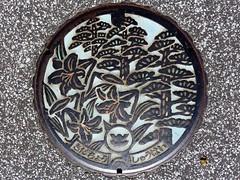 Sada Shimane, manhole cover  (MRSY) Tags: flower color tree japan  shimane manhole    sada
