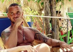 IMG_0818 Tommeboom (danimaniacs) Tags: shirtless man sexy guy tattoo beard mexico muscle muscular hunk jewelry puertovallarta stud scruff