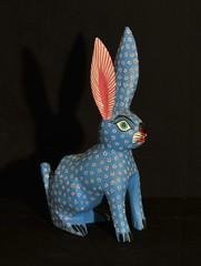 Little Blue Rabbit Oaxaca Wood Carving (Teyacapan) Tags: animals folkart conejo mexican rabbits oaxacan woodcarvings mexicanfolkart alebrijes