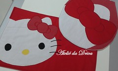 Jogo de Banheiro Hello Kitty (Ateli da Drica) Tags: hellokitty patchwork apliqu aplicaao jogodebanheiro
