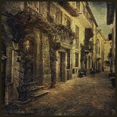 Patios Castel Gandolfo. (odinvadim) Tags: travel italy landscape spring artist textured iphoneart iphoneography iphoneonly snapseed mytravelgram editmaster painterlymobileart