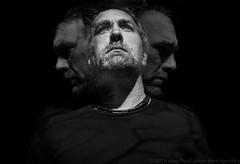 Self Portrait Trio (Eric Storch Photography) Tags: portrait blackandwhite bw selfportrait blackwhite doubleexposure tripleexposure