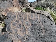 Petroglyphs / Blackrock Well Site (Ron Wolf) Tags: california abstract archaeology circle nationalpark nativeamerican salinevalley petroglyph anthropology shoshone rockart deathvalleynationalpark piute numic tailedcircle